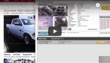 Licytacja dla klienta Dodge RAM – aukcja IAAI