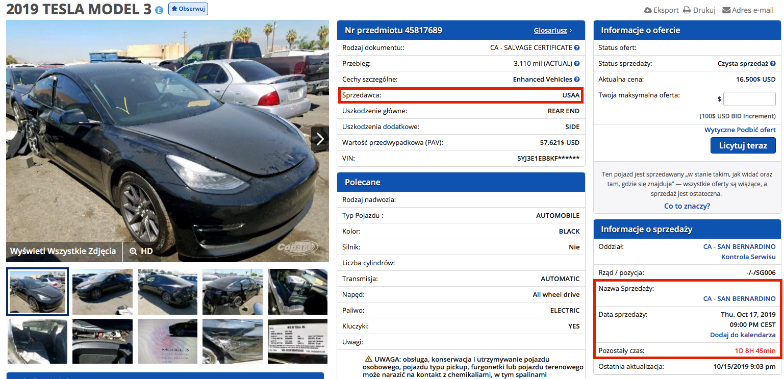 jak kupować auta na copart
